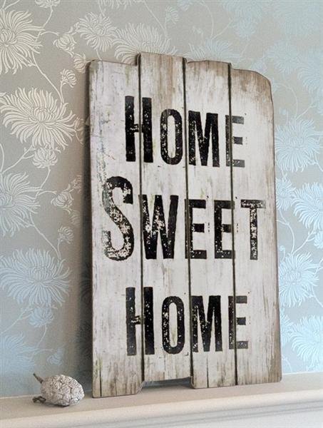 Tekstbord home sweet home tekst borden for Deco home sweet home
