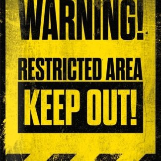 NA23172 Tin Sign 30x40cm Warning Keep Out gebold metalen bord rustiek tekstbord tekst bord cadeau kado online metaal decoratie