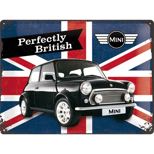 NA23215 Tin Sign 30x40 Mini Union Jack gebold metalen bord rustiek tekstbord tekst bord cadeau kado online metaal decoratie
