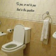 muur sticker wa-241-To-pee-or-not-to-pee-that is the question