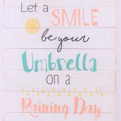 em6099 let a smile be your umbrella on a raining day