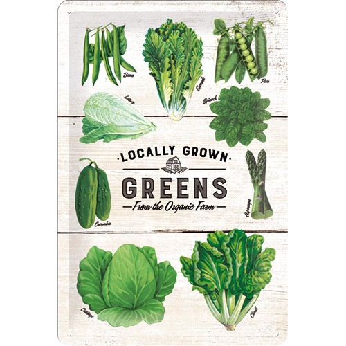 NA22253 locally grown greens gebold-metalen-bord-rustiek-tekstbord-tekst-bord-cadeau-kado-online-metaal-decoratie