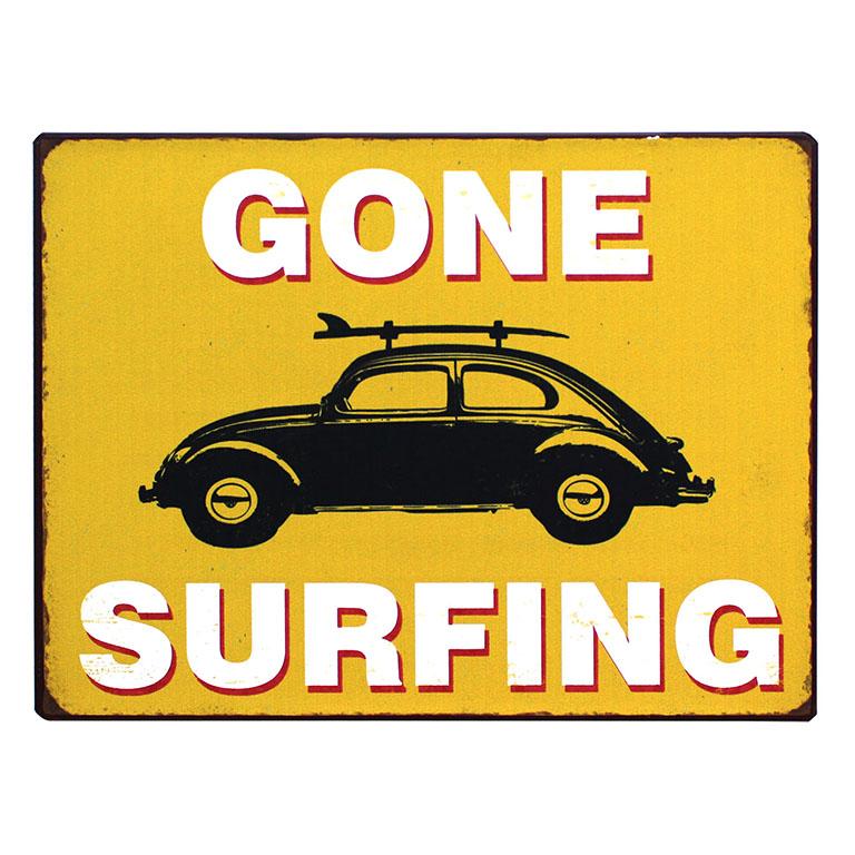 em3896--gone-surfing-rustiek-tekst-bord-cadeau-kado-online-metaal-deco-decoratie-v