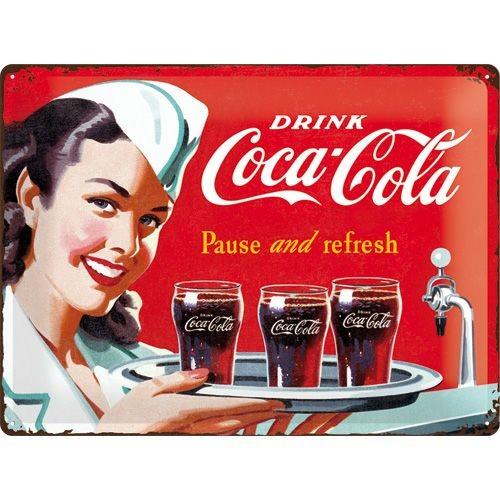 NA23192 Tin Sign 30x40 Coca-Cola 1960 gebold metalen bord rustiek tekstbord tekst bord cadeau kado online metaal decoratie