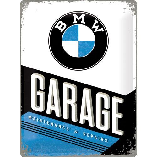 NA23211 Tin Sign 30x40 BMW Garage gebold metalen bord rustiek tekstbord tekst bord cadeau kado online metaal decoratie