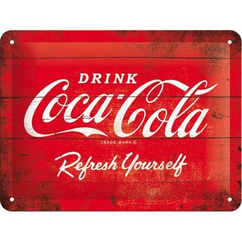 Coca Cola – refresh your self – reclame bord 15 x 20 cm