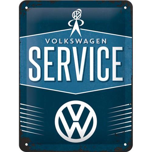 NA26184 Tin Sign 15x20 VW Service gebold metalen bord rustiek tekstbord tekst bord cadeau kado online metaal decoratie