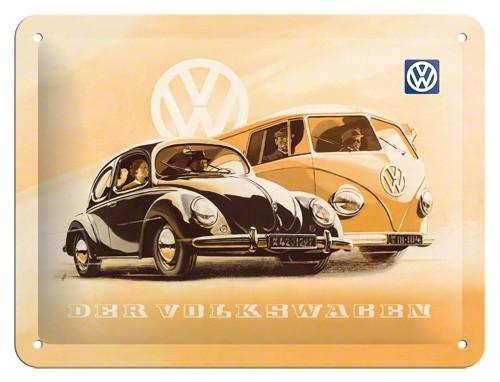 Gebold tin bord:  Der volkswagen VW | 15 x 20 cm
