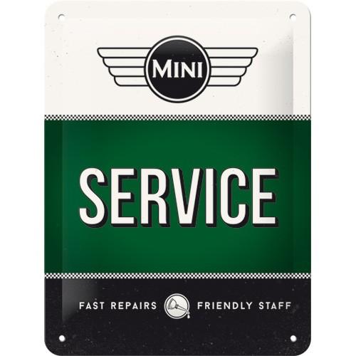 na26185tin sign 15 x 20 mini service green gebold metalen bord rustiek tekstbord tekst bord cadeau kado online metaal decoratie
