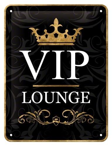 NA26123 Tin Sign 15 x 20 VIP lounge-gebold-metalen-bord-rustiek-tekstbord-tekst-bord-cadeau-kado-online-metaal-decoratie