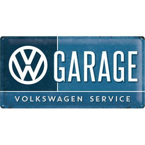 NA27003 Tin Sign 25 x 50 VW Garage -gebold-metalen-bord-rustiek-tekstbord-tekst-bord-cadeau-kado-online-metaal-decoratie