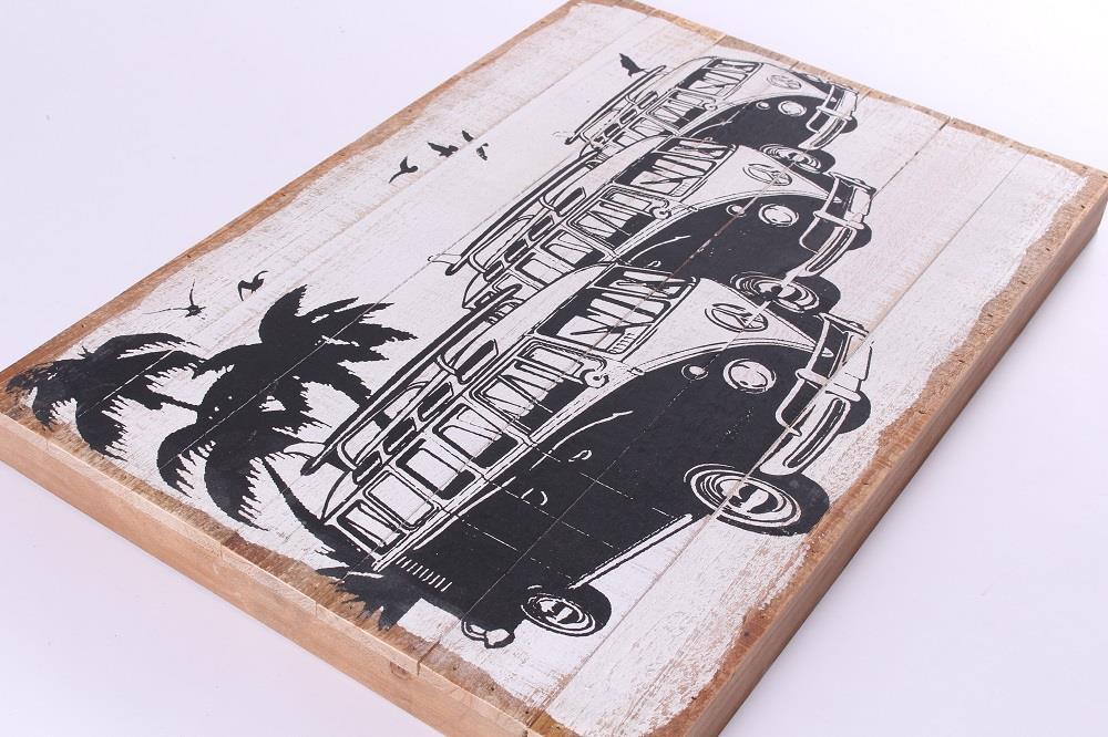 em6196 minibus volkswagen hout-tekst-bord-cadeau-kado-online-deco-decoratie