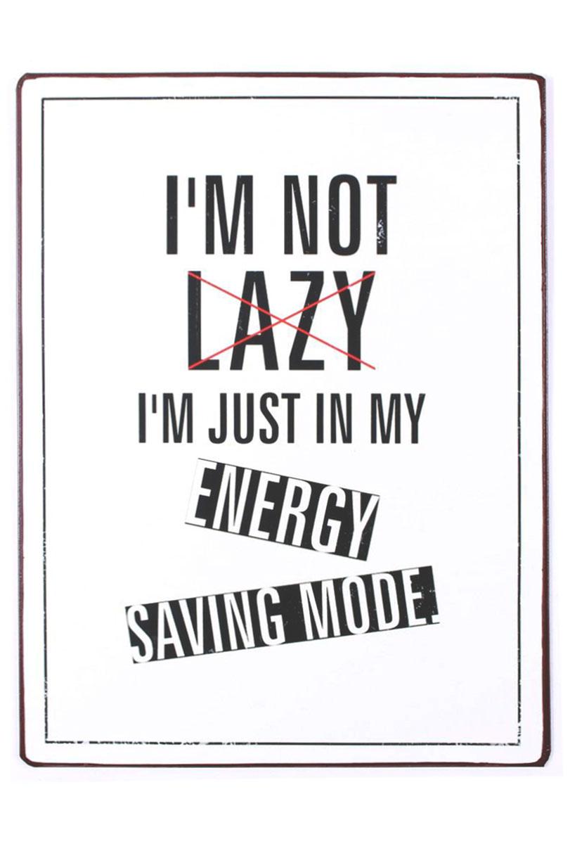 em6048-im-not-lazy-im)just-in-my-enery-saving-mode-rustiek-tekst-bord-cadeau-kado-online-metaal-deco-decoratie